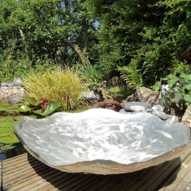 Pewter Lily Pad Bowl